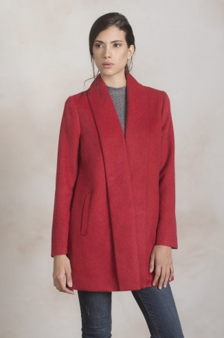 Short Swing Coat Rosso